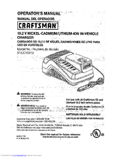 CRAFTSMAN 315.CH2010 Operator's Manual