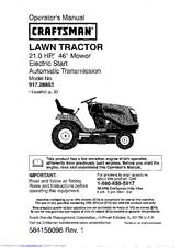 craftsman vt3000 manual
