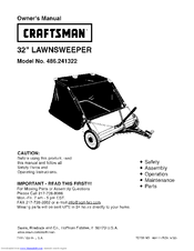 CRAFTSMAN 486.241322 Owner's Manual