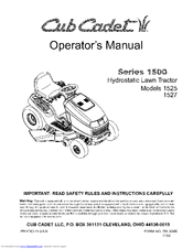 cub cadet 1527 operator s manual pdf download rh manualslib com cub cadet 1527 owners manual Cub Cadet 2000 Series Manual