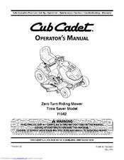 cub cadet time saver i1042 manuals rh manualslib com cub cadet i1042 repair manual cub cadet i1042 parts manual