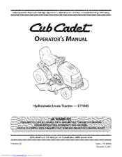 cub cadet lt1045 manuals rh manualslib com Cub Cadet LT1045 Engine Diagrams Cub Cadet 1045 Repair Manual