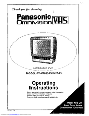 Panasonic Omnivision VHS PV-M2035 Operating Instructions Manual