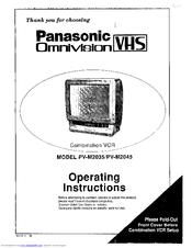 Panasonic Omnivision VHS PV-M2035 Operating Instructions Manual
