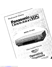 panasonic omnivision vhs pv 4564 manuals rh manualslib com panasonic vcr repair manual panasonic vcr manual user guide