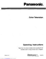 PANASONIC CT-20S11 Operating Instructions Manual