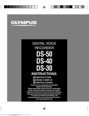 olympus ds 50 manuals rh manualslib com olympus digital voice recorder ws 311m instruction manual olympus digital voice recorder ds-50 user manual