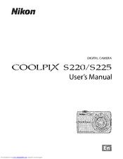 nikon coolpix s225 user manual pdf download rh manualslib com nikon s220 manual coolpix s210 manual