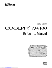 Nikon coolpix aw camera user guide manual.