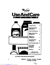 Whirlpool ET18NK Use And Care Manual