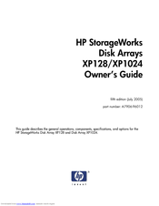 HP StorageWorks XP1024 Owner's Manual