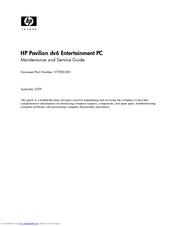 hp pavilion dv6 2100 entertainment notebook pc manuals rh manualslib com Housekeeping Guide hp dv6 maintenance and service guide