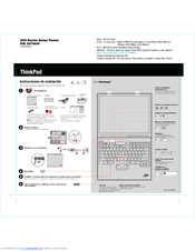 Lenovo THINKPAD G40 Setup Manual