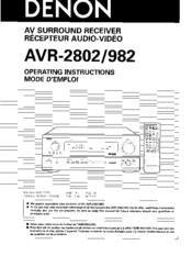 denon avr 2802 manuals rh manualslib com denon avr 2802 user manual pdf denon avr-3802 manual