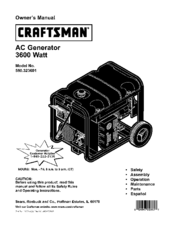 CRAFTSMAN 580.323601 Owner's Manual