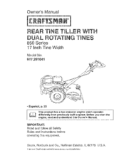 craftsman 917 297041 manuals rh manualslib com Craftsman Mini Tiller Manual Craftsman Tiller Manuals Model 917.296040