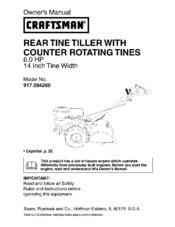 craftsman 917 294260 manuals rh manualslib com craftsman tiller manuals craftsman rototiller parts manual