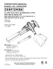 CRAFTSMAN 138 74899 OPERATOR'S MANUAL Pdf Download