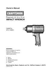 CRAFTSMAN 875.199850 Owner's Manual