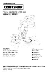 CRAFTSMAN 126.32564 Operator's Manual