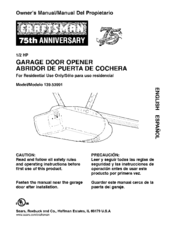 Craftsman 139 53991 Manuals