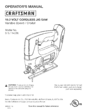 CRAFTSMAN 315.114280 Operator's Manual
