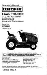 craftsman 917 289223 manuals rh manualslib com Craftsman Model 917 Manual Craftsman Lawn Mower 917 Manual