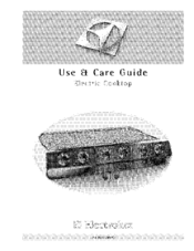 Electrolux E36EC75DSS1 Use & Care Manual