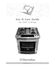 Electrolux EW30GS65GS2 Use & Care Manual
