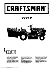 CRAFTSMAN 27712 Instruction Manual