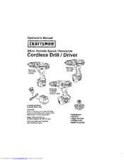 CRAFTSMAN 172.11810 Operator's Manual