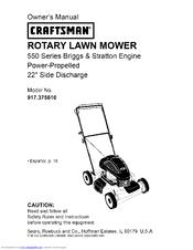 craftsman 917 375610 manuals rh manualslib com Briggs Stratton Engine Diagram Briggs and Stratton Engine Specs