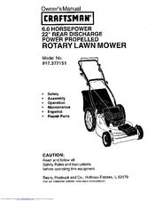 CRAFTSMAN 917.377151 Owner's Manual