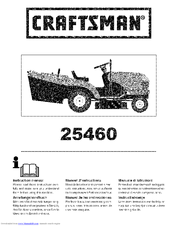 CRAFTSMAN 25460 Instruction Manual