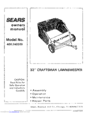CRAFTSMAN 486.240320 Owner's Manual