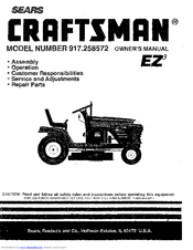 craftsman ez3 917 258572 owner s manual pdf download