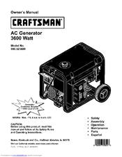 CRAFTSMAN 580.323600 Owner's Manual