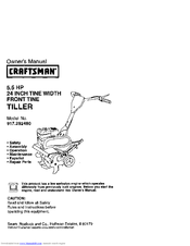 craftsman 917 292480 owner s manual pdf download rh manualslib com Sears Craftsman 5 HP Tiller Sears Craftsman Garden Tillers