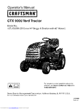 CRAFTSMAN CTX 9000 Operator's Manual