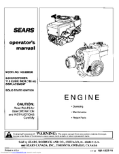 CRAFTSMAN 143.006006 Operator's Manual