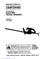 CRAFTSMAN 172 79957 OPERATOR'S MANUAL Pdf Download