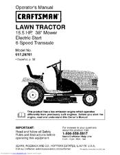 Craftsman 917 287011 Manuals