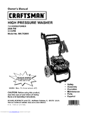 craftsman 580 752600 manuals rh manualslib com intek 190 pressure washer manual Washer Machine Manual