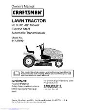 craftsman 917 275901 owner s manual pdf download rh manualslib com craftsman lawn mower owner's manual craftsman lawn mower owners manual download