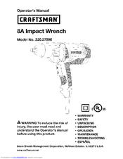 CRAFTSMAN 320.27990 Operator's Manual