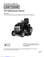 CRAFTSMAN 107.250070 Operator's Manual