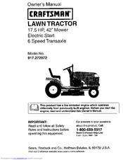 craftsman lawn mower lt1000 owners manual