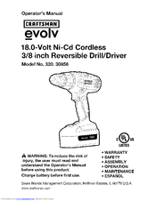 CRAFTSMAN evolv 320.30856 Operator's Manual