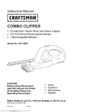 CRAFTSMAN 240.74801 Instruction Manual