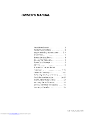 Frigidaire FRS20ZSGB3 Owner's Manual